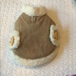 Accessories - Faux Shearling Dog Coat with Toggle detail